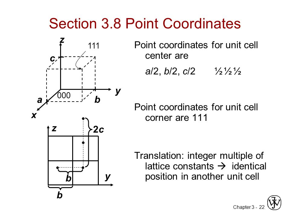 Section 3.8 Point Coordinates