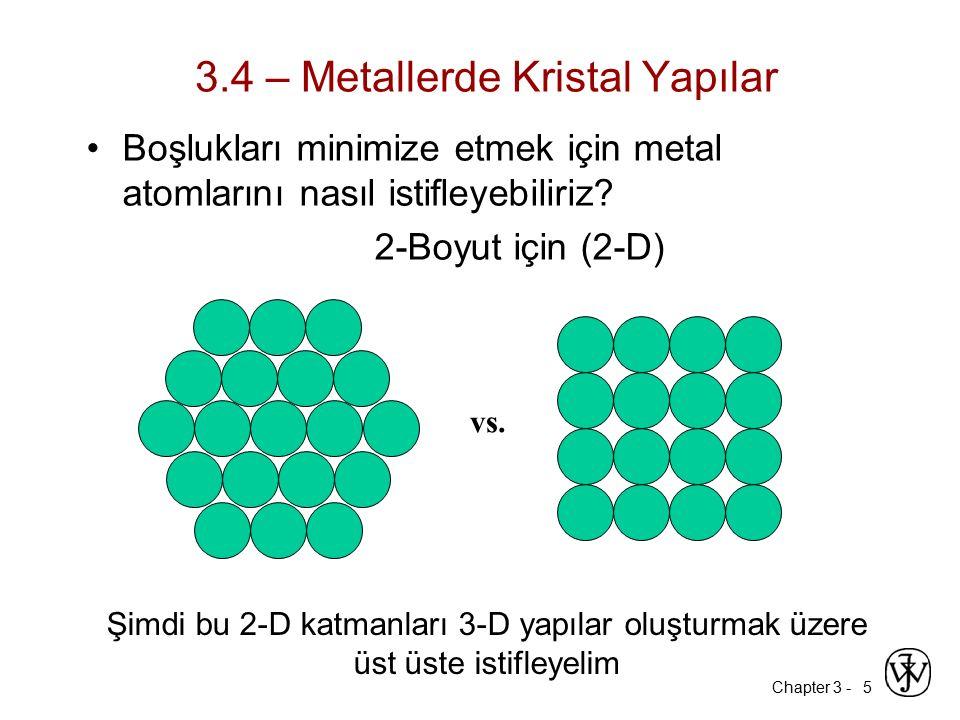 3.4 – Metallerde Kristal Yapılar