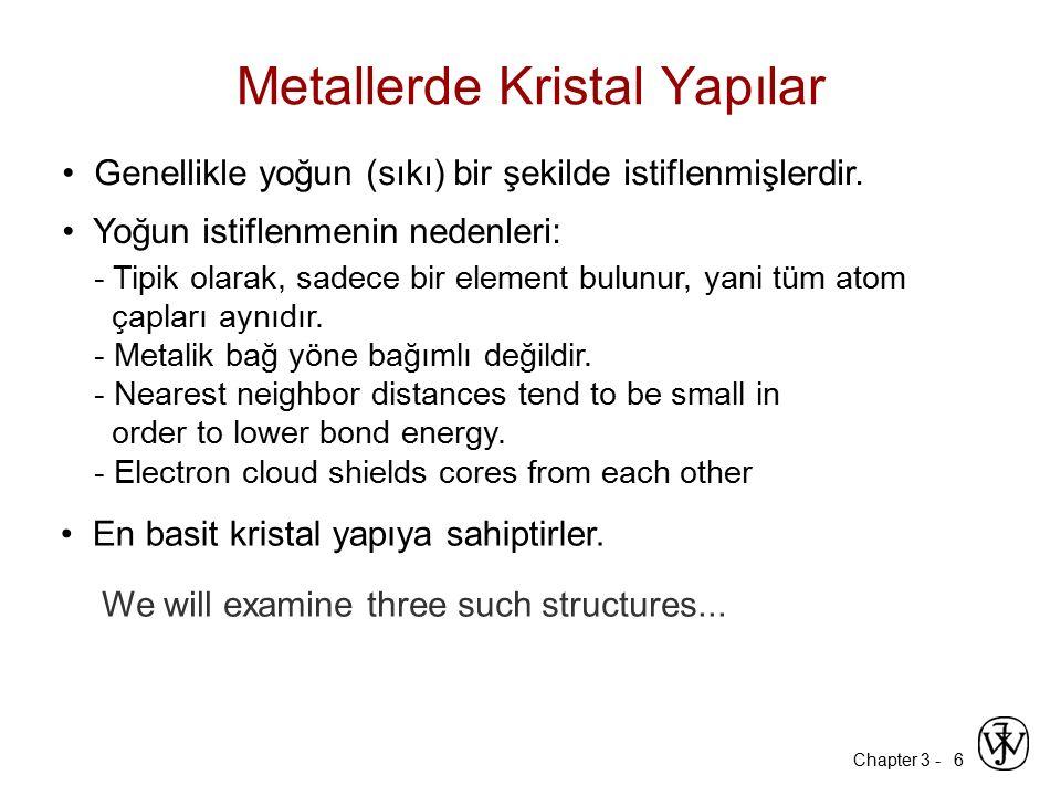 Metallerde Kristal Yapılar