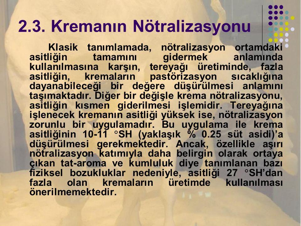 2.3. Kremanın Nötralizasyonu