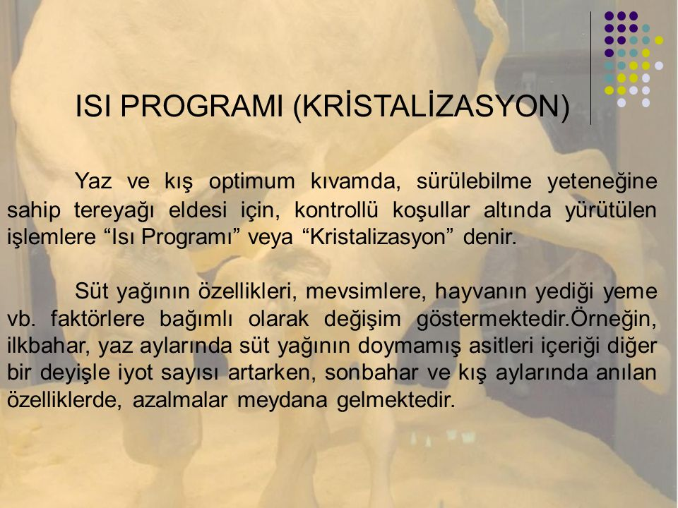 ISI PROGRAMI (KRİSTALİZASYON)