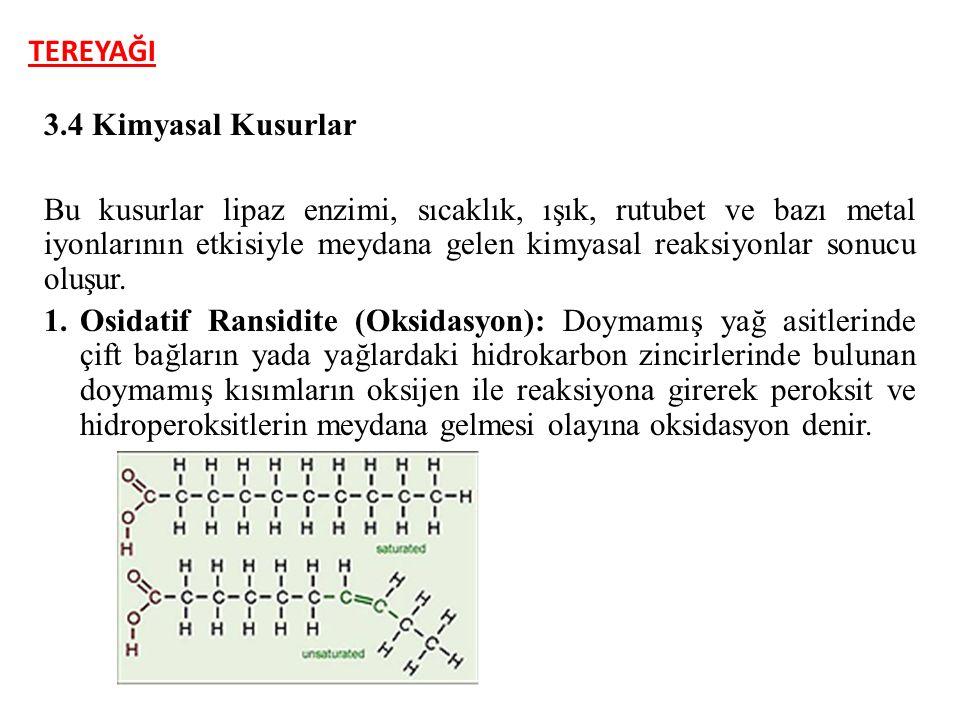 TEREYAĞI 3.4 Kimyasal Kusurlar.