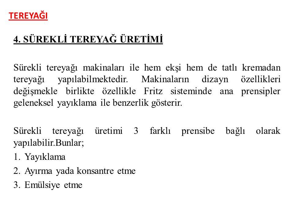 TEREYAĞI 4. SÜREKLİ TEREYAĞ ÜRETİMİ.