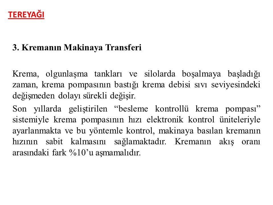 TEREYAĞI 3. Kremanın Makinaya Transferi.