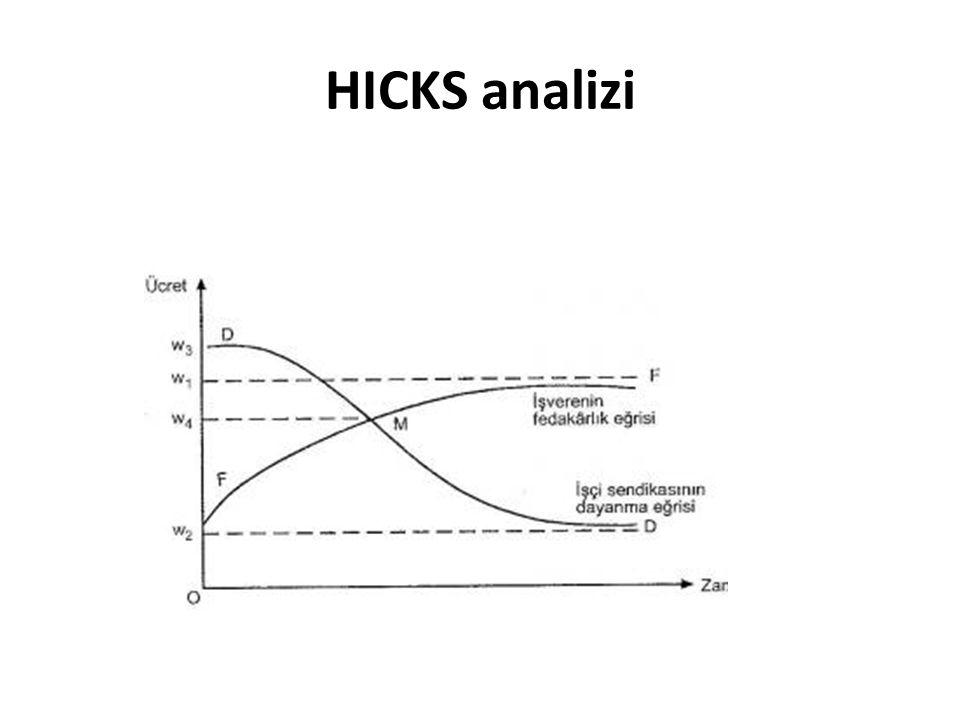 HICKS analizi