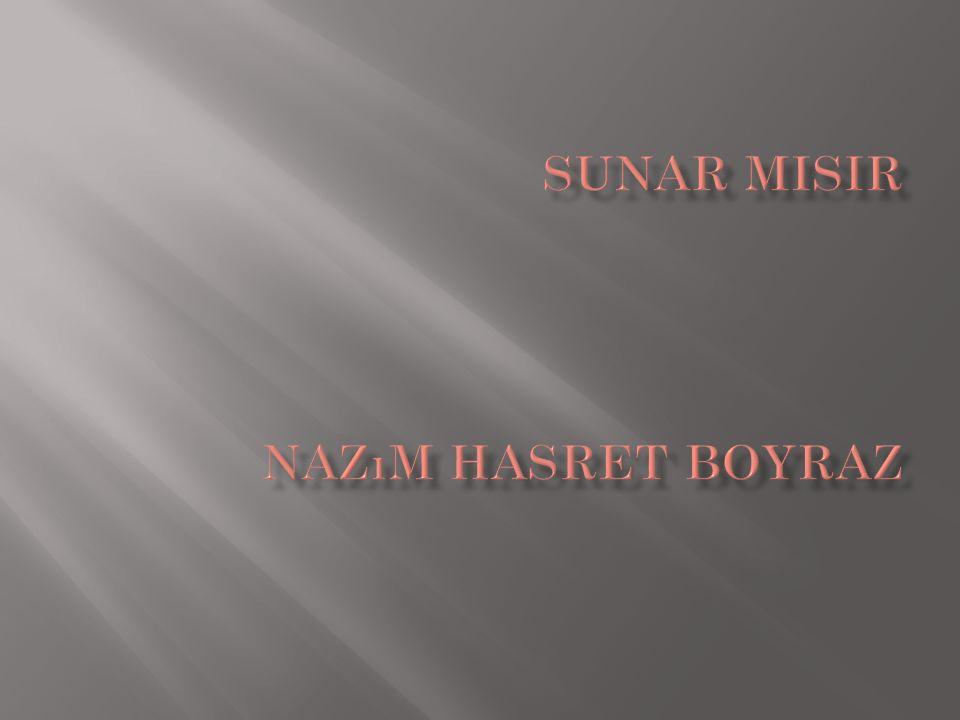 SUNAR MISIR Nazım Hasret Boyraz