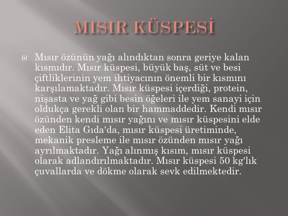 MISIR KÜSPESİ