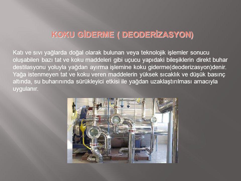 KOKU GİDERME ( DEODERİZASYON)