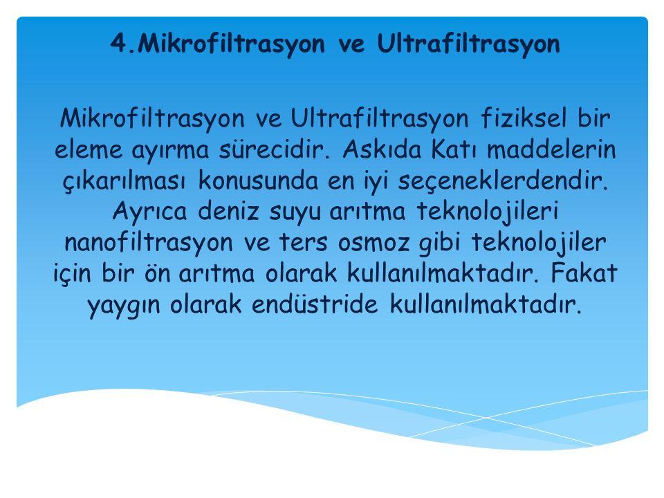 4.Mikrofiltrasyon ve Ultrafiltrasyon