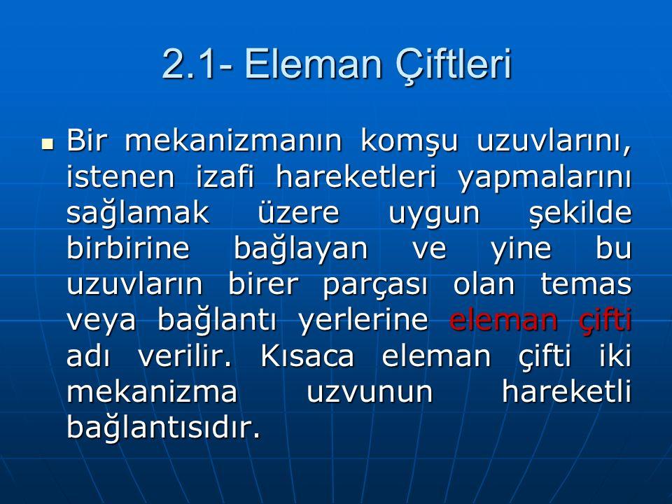 2.1- Eleman Çiftleri