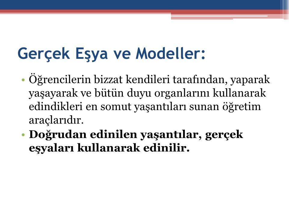 Gerçek Eşya ve Modeller:
