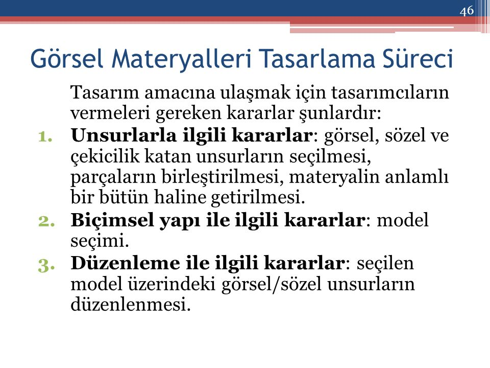 Görsel Materyalleri Tasarlama Süreci