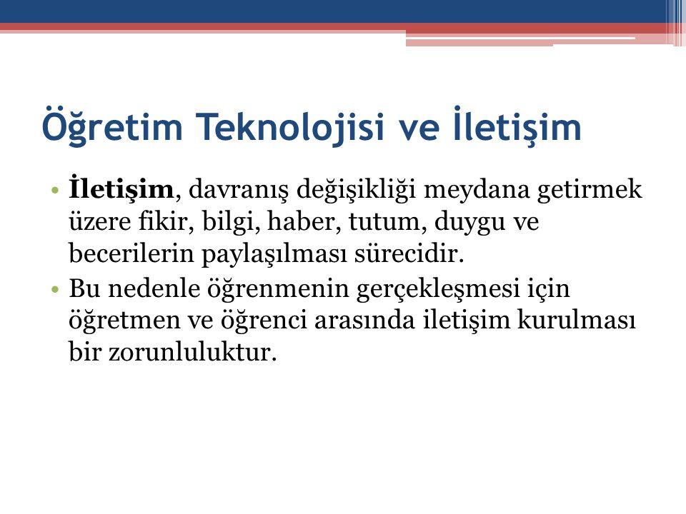 Öğretim Teknolojisi ve İletişim