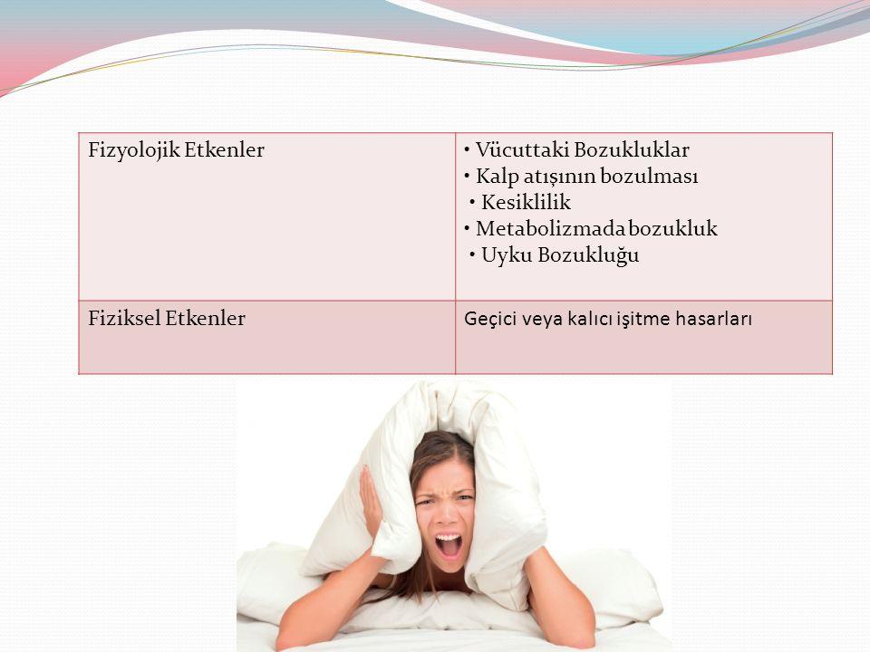 Fizyolojik Etkenler • Vücuttaki Bozukluklar. • Kalp atışının bozulması. • Kesiklilik. • Metabolizmada bozukluk.