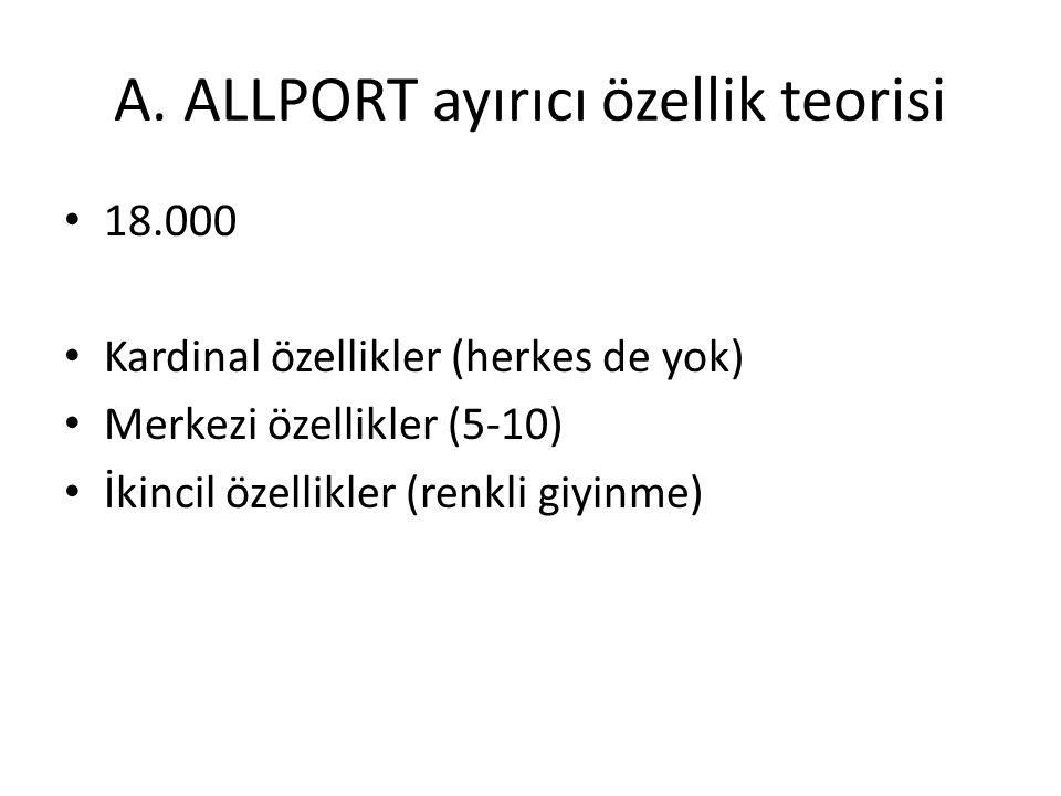 A. ALLPORT ayırıcı özellik teorisi