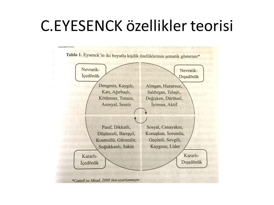 C.EYESENCK özellikler teorisi