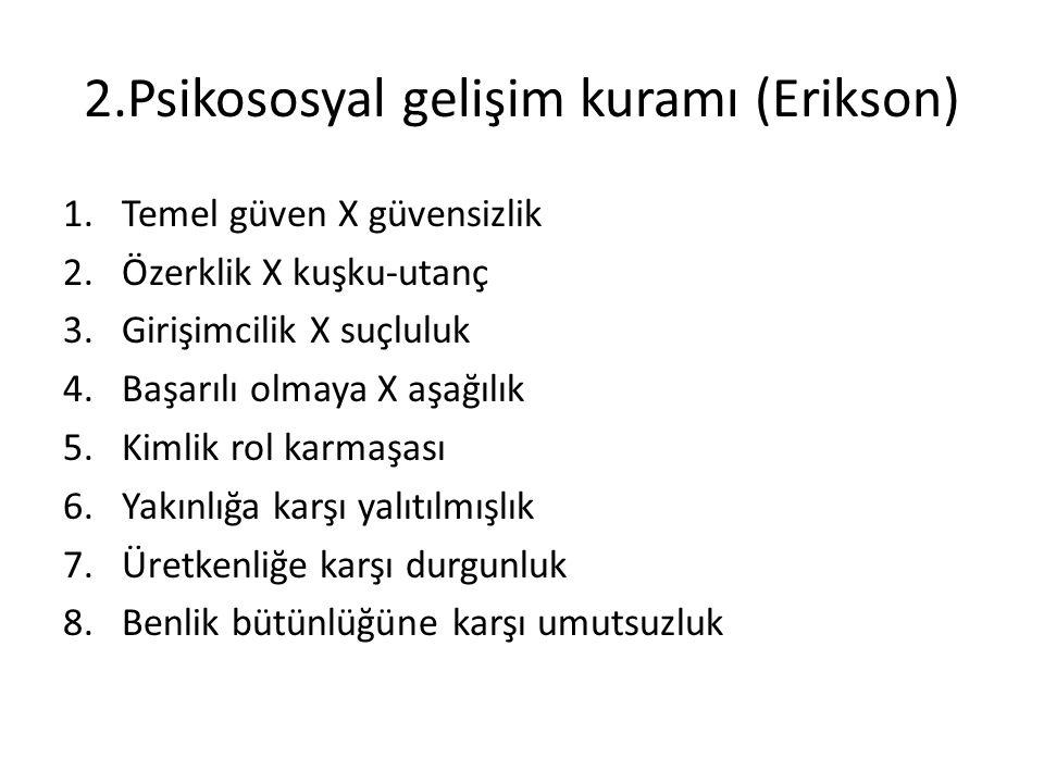 2.Psikososyal gelişim kuramı (Erikson)