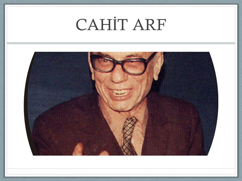 CAHİT ARF