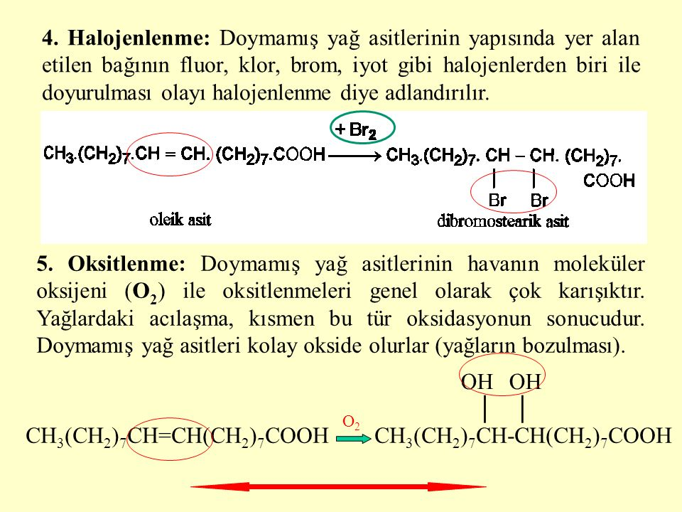 CH3(CH2)7CH=CH(CH2)7COOH CH3(CH2)7CH-CH(CH2)7COOH