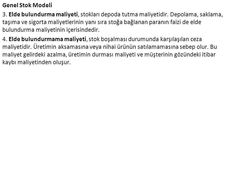 Genel Stok Modeli