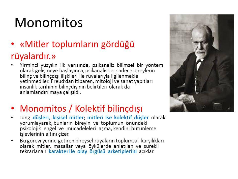 Monomitos «Mitler toplumların gördüğü rüyalardır.»