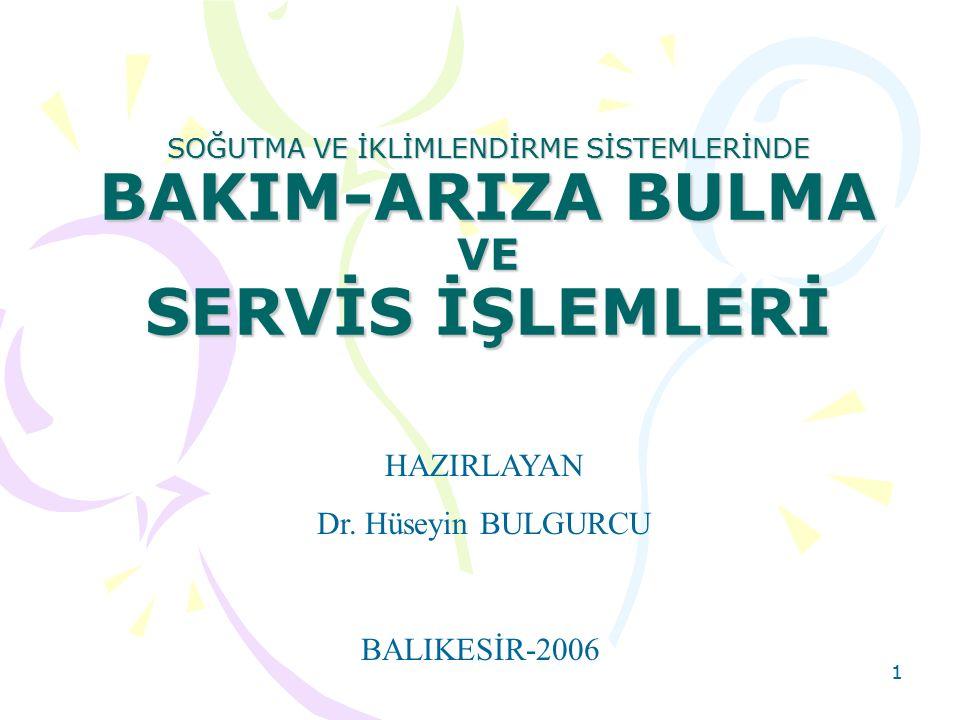 HAZIRLAYAN Dr. Hüseyin BULGURCU BALIKESİR-2006