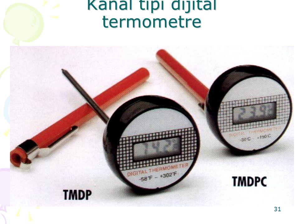 Kanal tipi dijital termometre