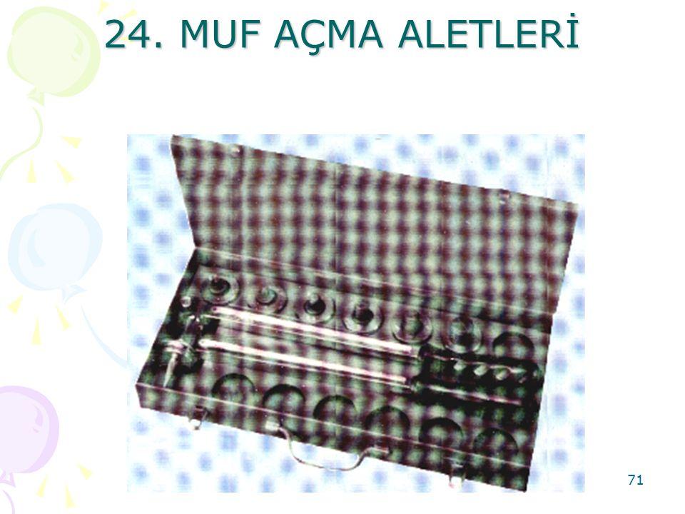 24. MUF AÇMA ALETLERİ