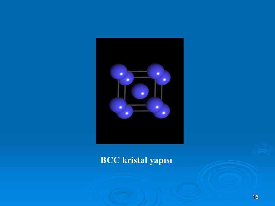 BCC kristal yapısı