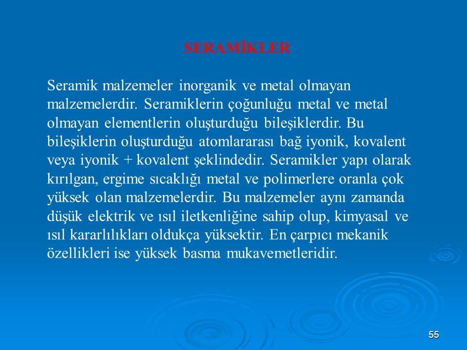 SERAMİKLER