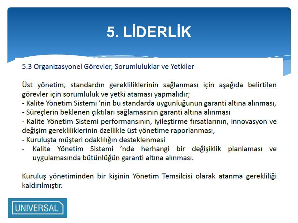 5. LİDERLİK