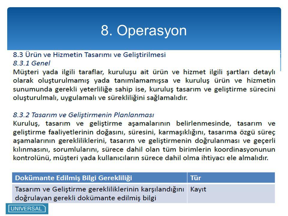 8. Operasyon