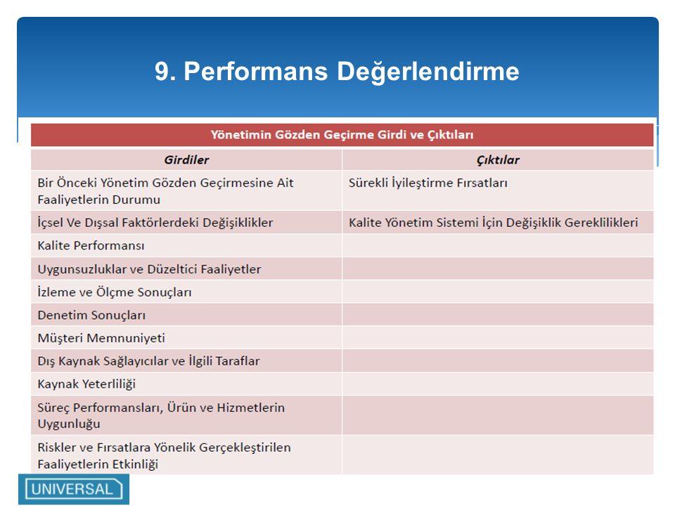 9. Performans Değerlendirme