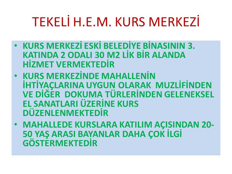 TEKELİ H.E.M. KURS MERKEZİ