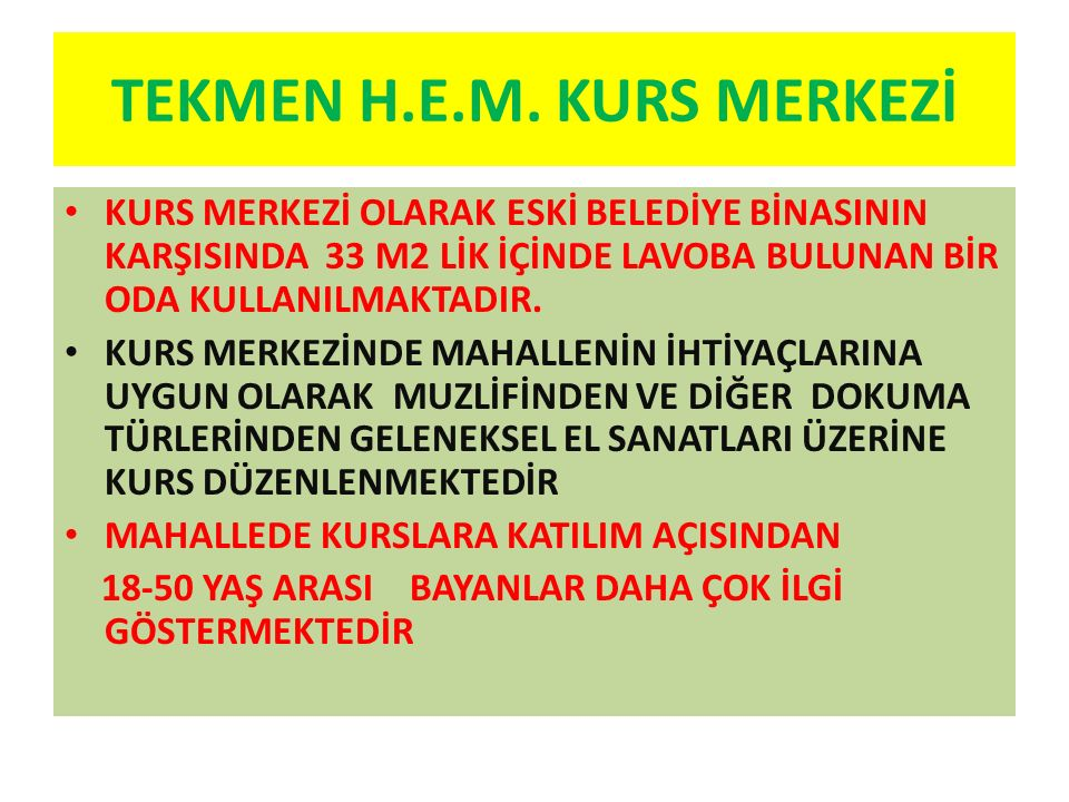 TEKMEN H.E.M. KURS MERKEZİ