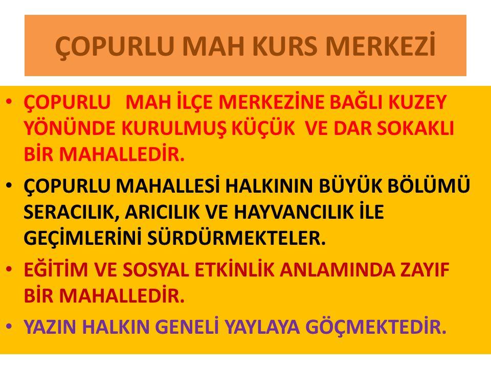 ÇOPURLU MAH KURS MERKEZİ