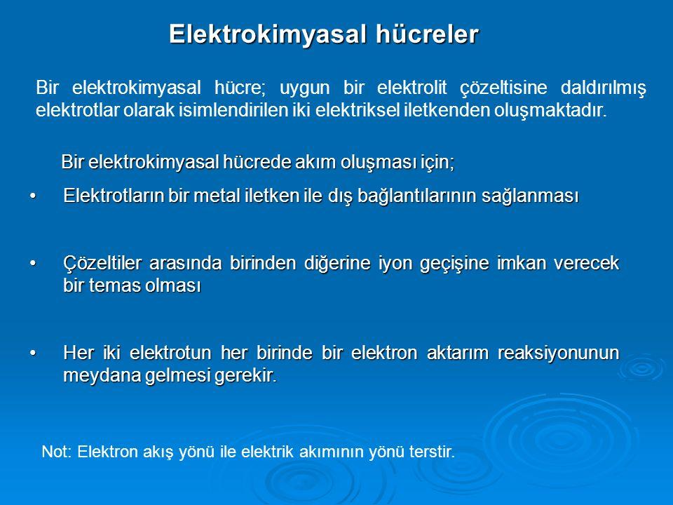 Elektrokimyasal hücreler
