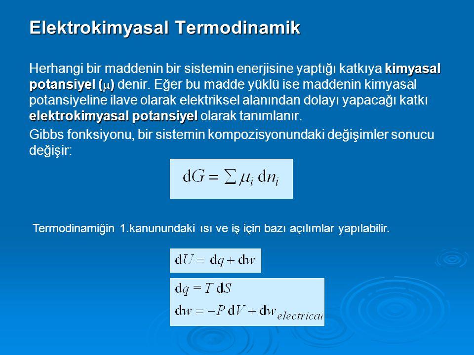 Elektrokimyasal Termodinamik