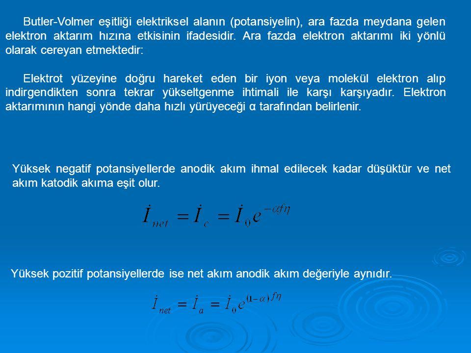Butler-Volmer eşitliği elektriksel alanın (potansiyelin), ara fazda meydana gelen elektron aktarım hızına etkisinin ifadesidir. Ara fazda elektron aktarımı iki yönlü olarak cereyan etmektedir: