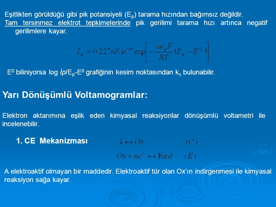 Yarı Dönüşümlü Voltamogramlar: