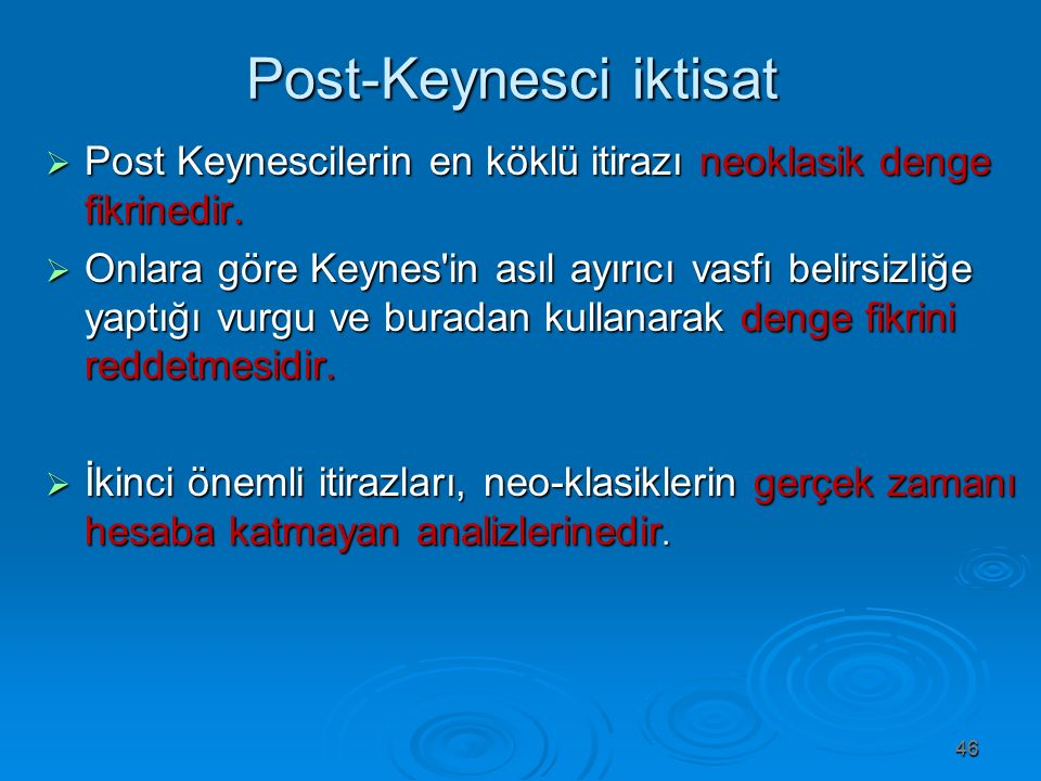 Post-Keynesci iktisat