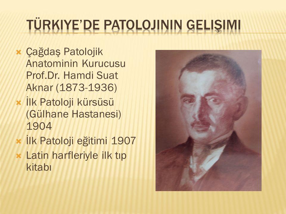 Türkiye'de Patolojinin Gelişimi
