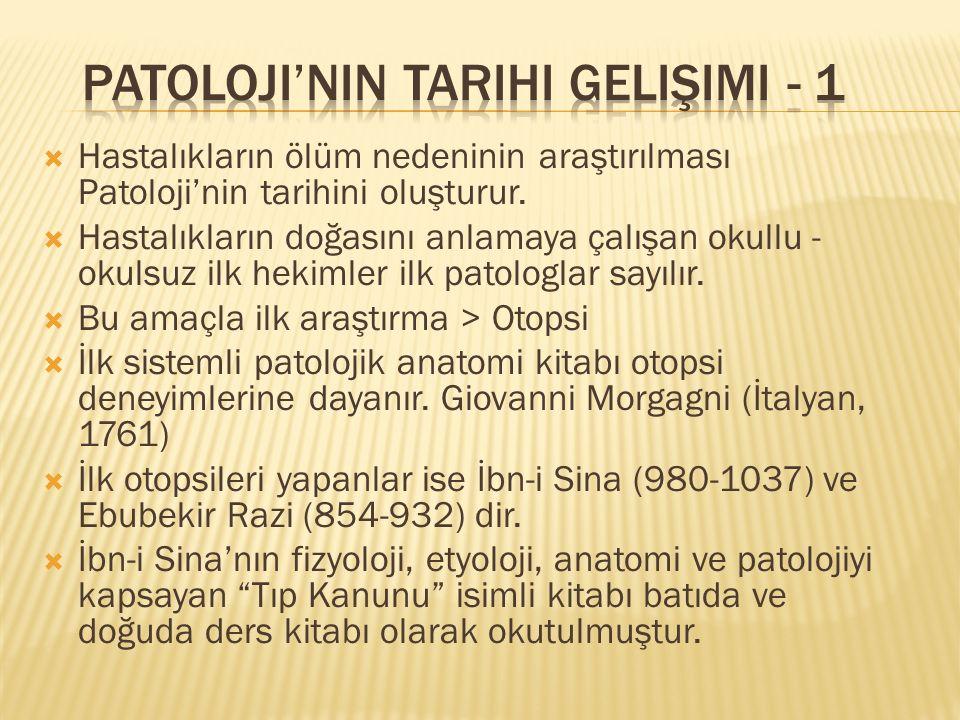 Patoloji'nin Tarihi Gelişimi - 1