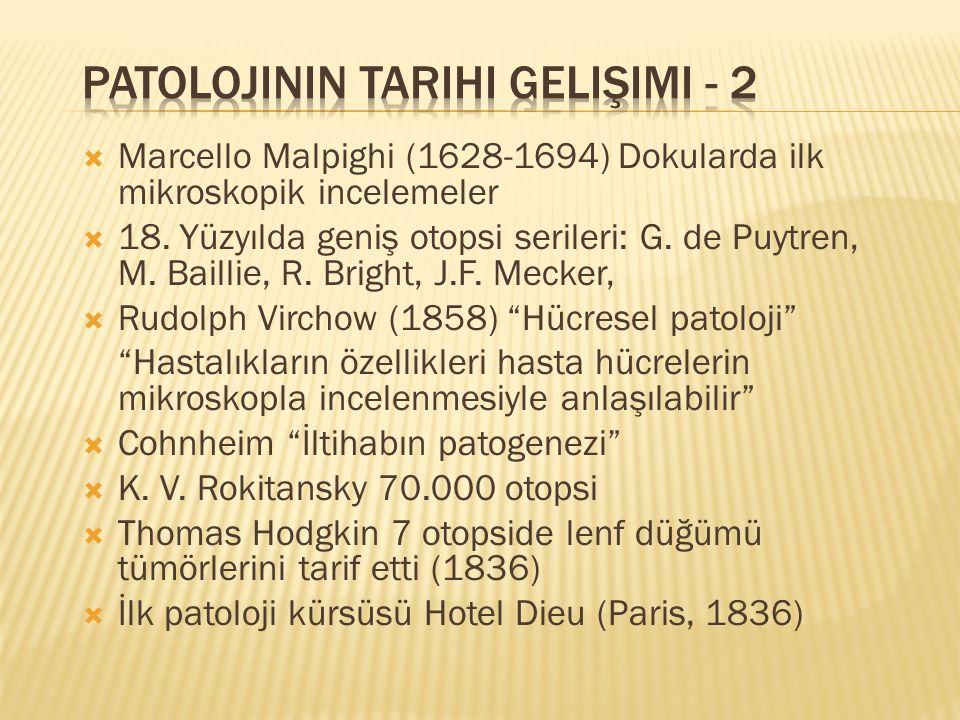 Patolojinin Tarihi Gelişimi - 2