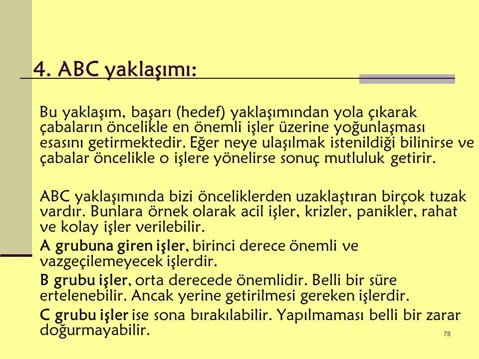 4. ABC yaklaşımı: