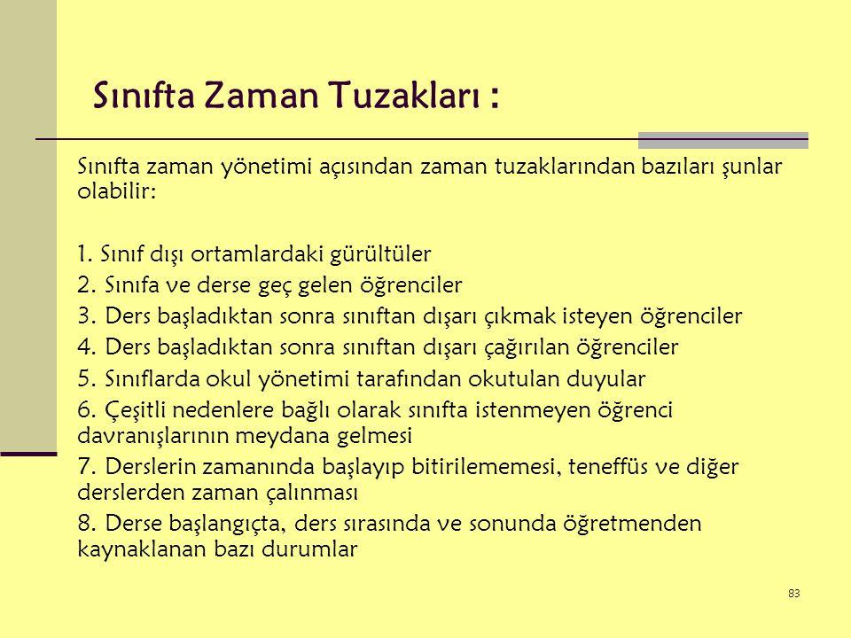 Sınıfta Zaman Tuzakları :
