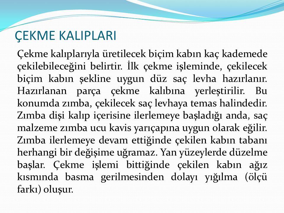 ÇEKME KALIPLARI