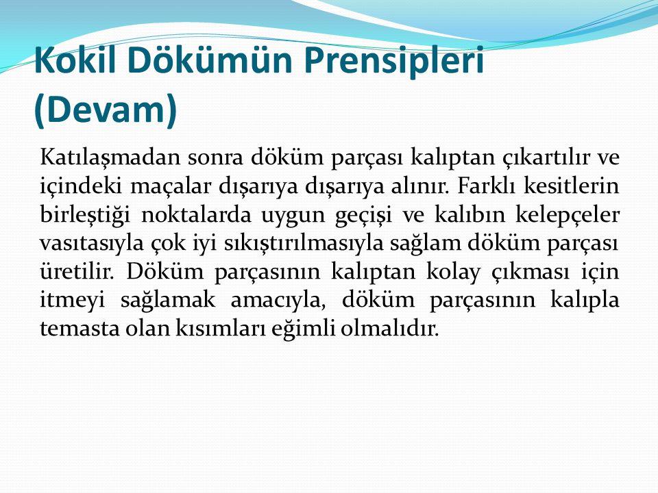 Kokil Dökümün Prensipleri (Devam)