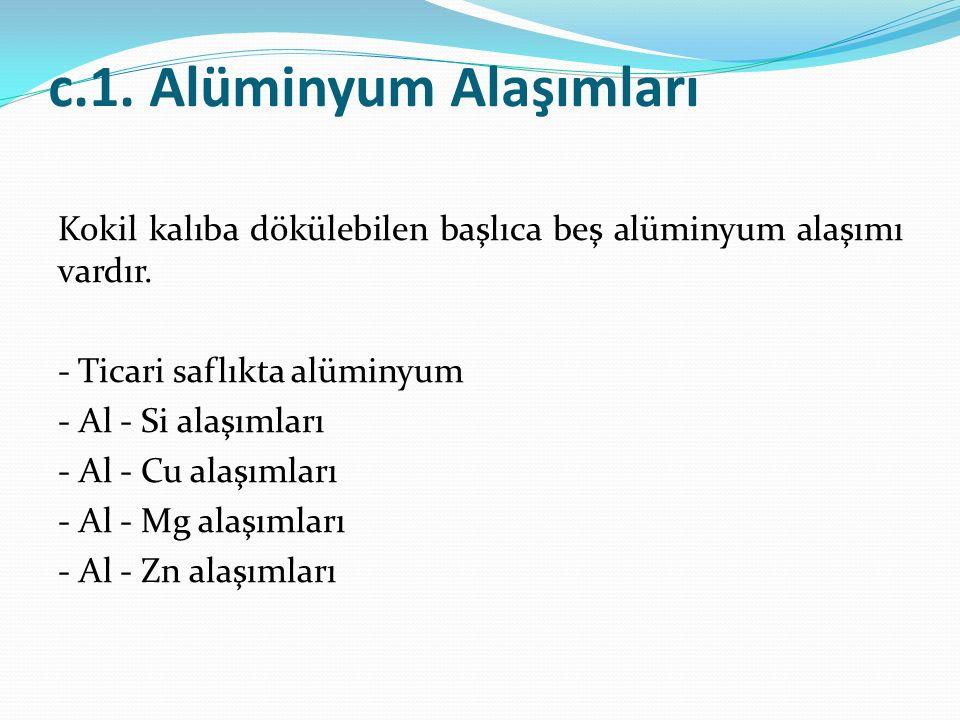 c.1. Alüminyum Alaşımları