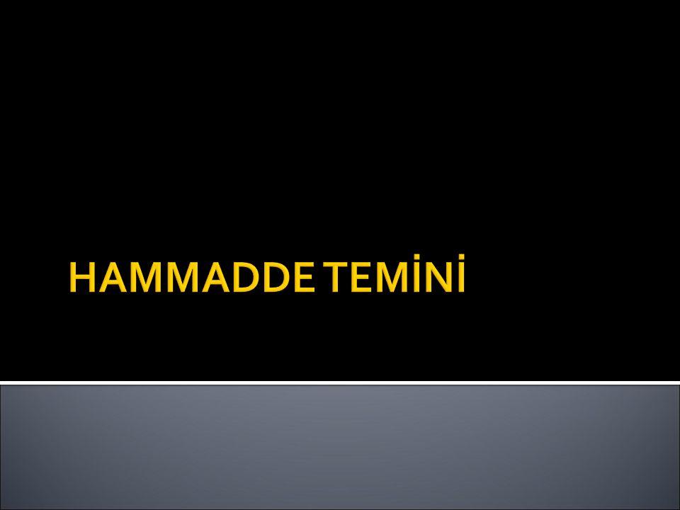 HAMMADDE TEMİNİ